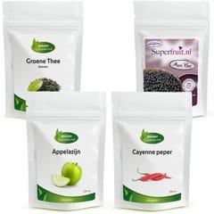 Groene Thee Extract, Acai Bes, Appelazijn, Cayenne Peper